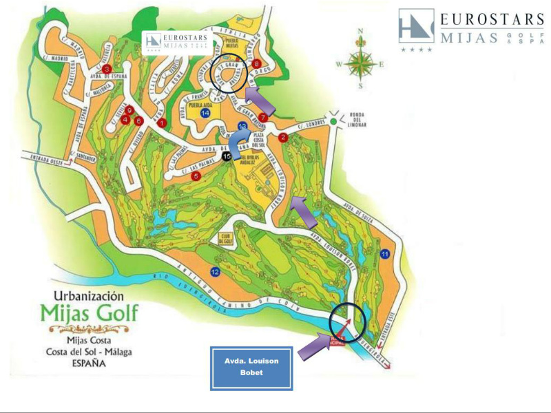 Contact and map Hotel Eurostars Mijas Golf SPA in Mijas